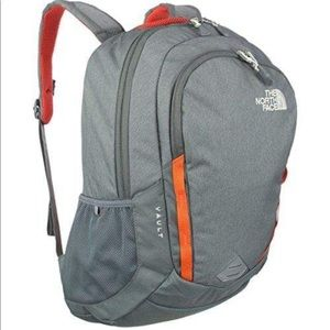 NWT The North Face Vault Backpack (Gray/ Orange)